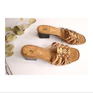 Life Stride Slip On Woven Sandals